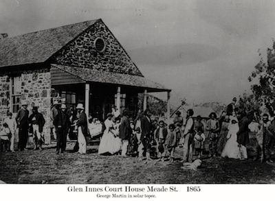 Glen Innes Court House in 1865