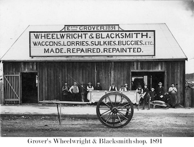 Blacksmith Grovers Glen Innes in 1891