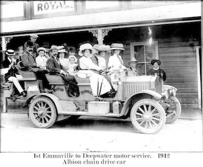 Emmaville 1st Motor Service 1912