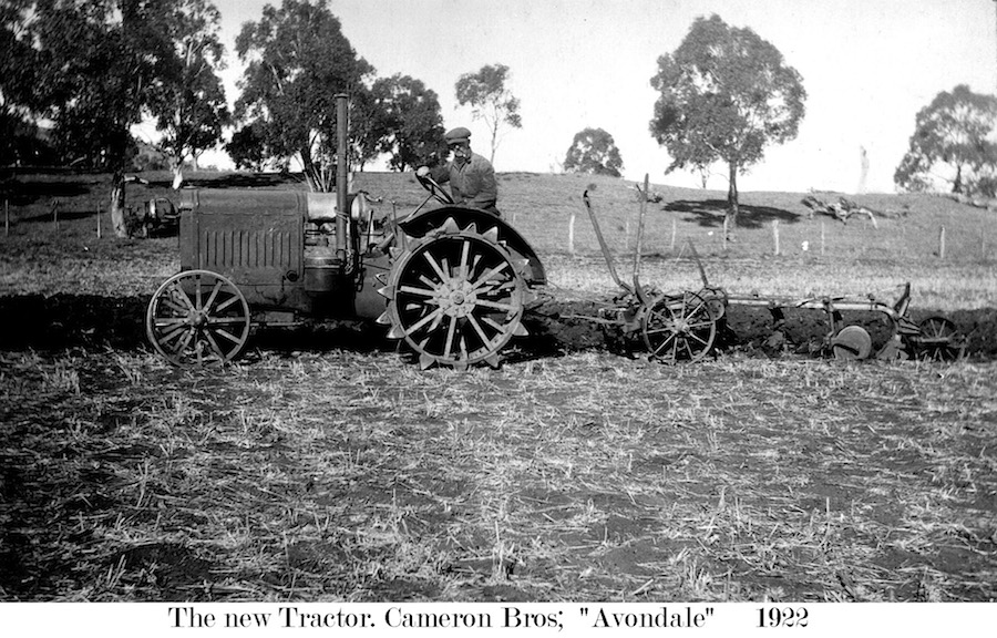 Farm Tractor Avondale Cameron Bros 1922