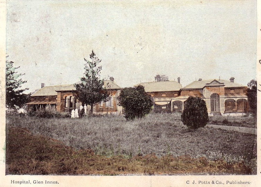 Glen Innes Hospital early postcard